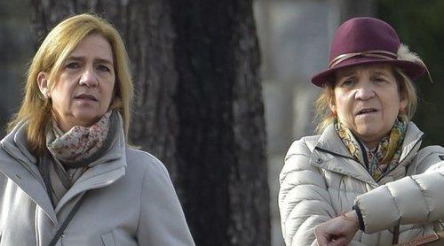 Las Infantas Elena y Cristina, dos hermanas muy bien avenidas de compras por Madrid