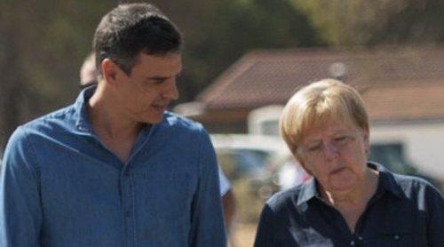 Angela Merkel y Pedro Sánchez derrochan buena sintonía durante su visita oficial a Doñana