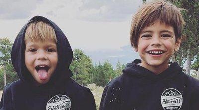Gerard Piqué presume de sus hijos con una divertida fotografía