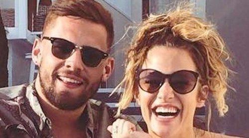Caroline Flack huye de un restaurante después de una fuerte discusión con su pareja Andrew Brady