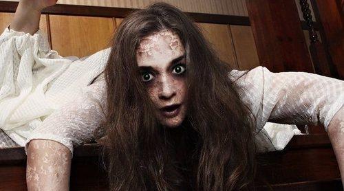 Maquillaje niña del exorcista para Halloween