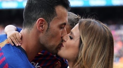 Sergio Busquets y otros futbolistas celebraron la goleada del Barça rodeados de familia