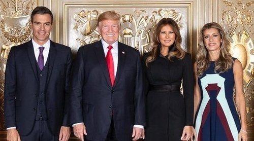 Pedro Sánchez y Begoña Gómez, recibidos por los Donald Trump en Nueva York