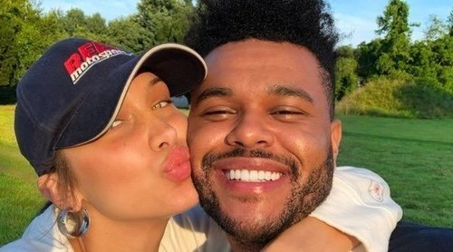 The Weeknd se pone romántico con su 'ángel' Bella Hadid