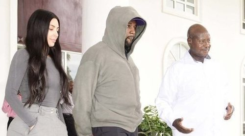 Kim Kardashian y Kanye West se reúnen con el Presidente de Uganda