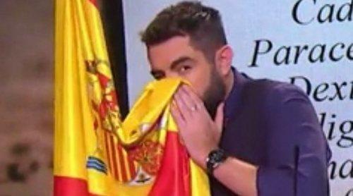 Dani Mateo pide disculpas por sonarse los mocos con la bandera de España en 'El Intermedio'
