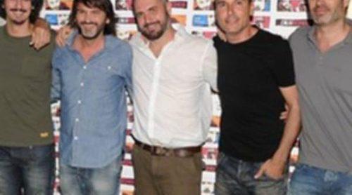 Fernando Tejero, acompañado de Hiba Abouk y Marina Salas, presenta la película 'Desechos' en Madrid