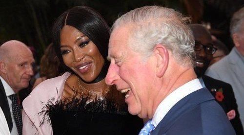 Naomi Campbell y su peculiar felicitación al Príncipe Carlos de Inglaterra: 'No aparenta la edad que tiene'