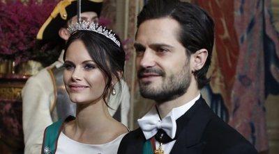 Sofia Hellqvist acapara todas las miradas durante la cena de gala en honor al Presidente de Italia