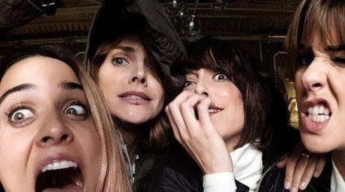 Blanca Suárez se divierte en el karaoke con Belén Cuesta, Amaia Salamanca y Macarena García