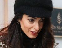 Amal Clooney enseña por primera vez la cara de sus hijos Alexandra y Ella Clooney
