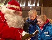 El emocionante encuentro de Jacques y Gabriella de Mónaco con Papá Noel en Laponia