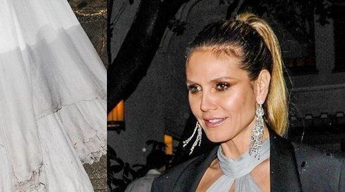 Las consecuencias de la noche de fiesta de Heidi Klum: así quedó su vestido tras los Globos de Oro 2019