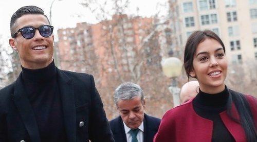 Cristiano Ronaldo acude a la firma de un acuerdo de conformidad con Hacienda de la mano de Georgina Rodríguez