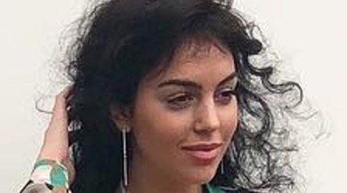 Georgina Rodríguez, como una estrella más en el desfile de Roberto Cavalli
