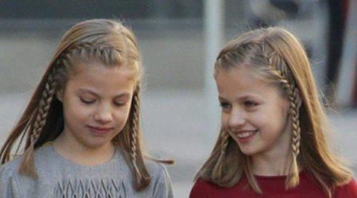 La Princesa Leonor y la Infanta Sofía toman el ejemplo de la Reina Sofía