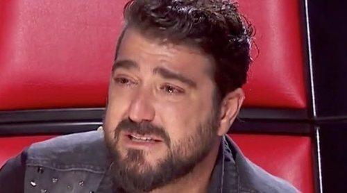 Antonio Orozco rompe a llorar en 'La Voz' al recordar a la madre de su hijo