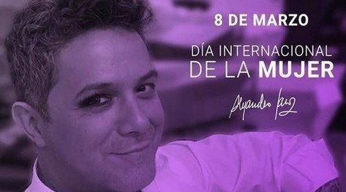 La desafortunada foto de Alejandro Sanz: celebra el Día de la Mujer maquillándose un ojo
