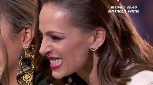 Eva González se emociona con la marcha de un concursante de 'La Voz'