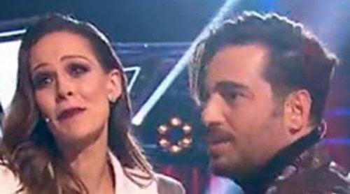 Las lágrimas de David Bustamante ante las bonitas palabras de Eva González en 'La Voz'