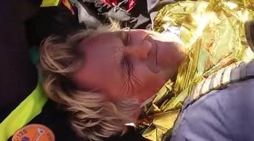 Las impactantes imágenes del rescate de Jesús Calleja