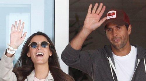 Ana Boyer y Fernando Verdasco abandonan el hospital con su hijo Miguel
