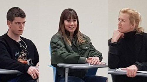 La surrealista situación de Ana Duato, Aitana Ocaña y Miguel Bernardeau: juntos durante una conferencia