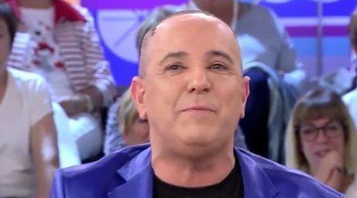 Víctor Sandoval sobre su injerto de pelo ('Sálvame Okupa'): 'Me lo ha regalado Marta López, cuesta 6000 euros'