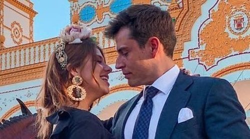 Anita Matamoros, feliz con su novio David Salvador por primera vez en la Feria de Abril 2019