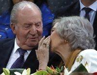 Las risas y la complicidad de los Reyes Juan Carlos y Sofía en el Madrid Open 2019