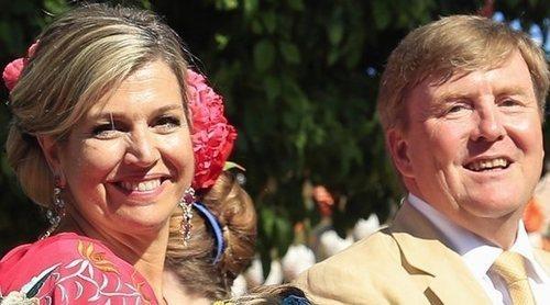 La accidentada despedida de Guillermo Alejandro y Máxima de Holanda con sus hijas de Sevilla