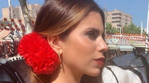 Melissa Jiménez presume de su tercer embarazo en la Feria de Sevilla