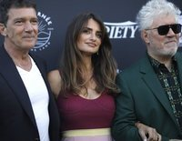 Pedro Almodóvar, Penélope Cruz y Antonio Banderas, juntos en el Festival de Cannes 2019