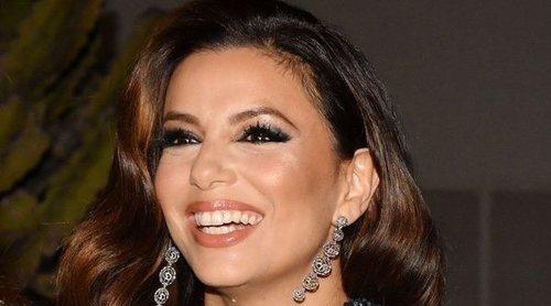 Eva Longoria acude con su hijo y su marido, José Bastón, a la Gala Global Gift de Cannes