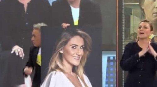 Kiko Hernández roba el cuadro de Carlota Corredera de los pasillos de Telecinco: 'Me has empujado'