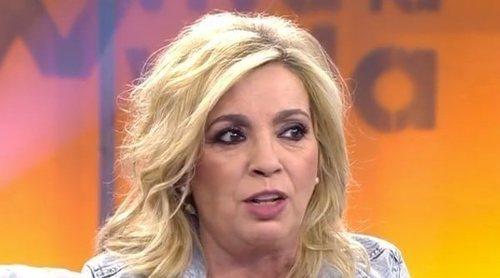 Carmen Borrego responde a la duras palabras de Jorge Javier Vázquez en el 'Deluxe': 'Se me saltaron las lágrimas'