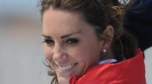 Kate Middleton apoya al equipo de vela de Gran Bretaña sin la compañía del Principe Guillermo en Londres 2012