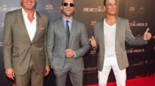 'Los Mercenarios 2' se estrena en Madrid con Jason Statham, Jean Claude Van Damme y Dolph Lundgren