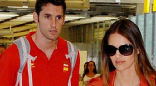 Helen Lindes y Rudy Fernández vuelven a España tras finalizar los Juegos Olímpicos de Londres 2012