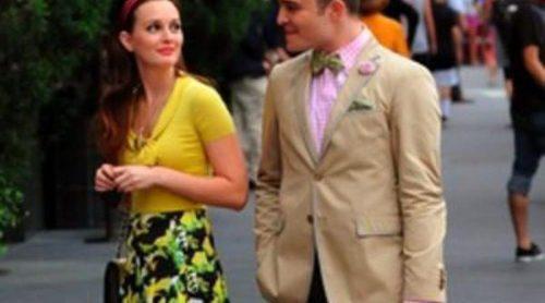 Leighton Meester y Ed Westwick se dejan ver en el rodaje de la sexta y última  temporada de 'Gossip Girl'