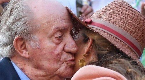 El cariño de la Infanta Elena hacia el Rey Juan Carlos en su reaparición tras su retirada oficial