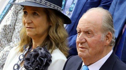 El Rey Juan Carlos y la Infanta Elena, fieles a su cita con Rafa Nadal en la final de Roland Garros 2019