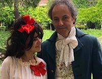 Eugenia Martínez de Irujo y Narcís Rebollo se disfrazan de Duquesa de Alba y Goya