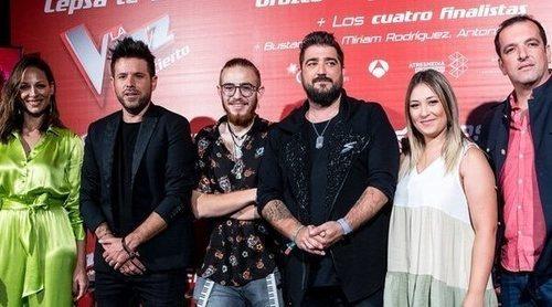 Pablo López, Antonio Orozco y Eva González presentan el concierto de 'La Voz' con sorpresa incluida