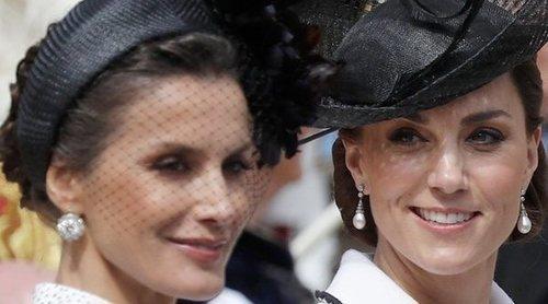 El encuentro entre la Reina Letizia y Kate Middleton en Windsor: rumores, una charla y ausencia de reverencia