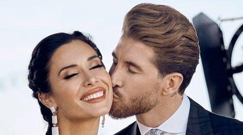 La primera foto oficial de Sergio Ramos y Pilar Rubio el día de su boda