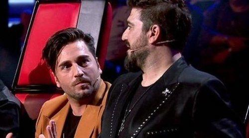 David Bustamante y Antonio Orozco protagonizan un tenso momento en la semifinal de 'La voz senior'