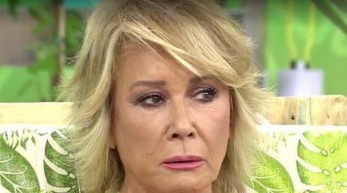 Miriam Saavedra enfada a Mila Ximénez al disfrazarse de Manolo Santana en 'Sálvame': 'Es el padre de mi hija'