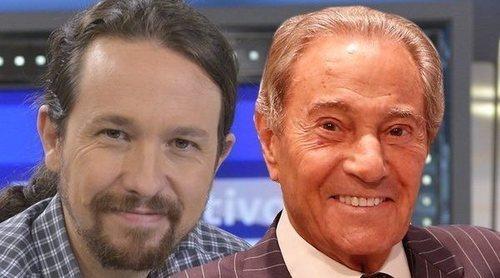 Pablo Iglesias se despide cariñosamente de Arturo Fernández tras haber coincidido en una serie de televisión