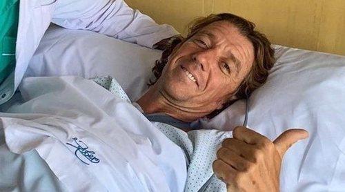 Colate se recupera de la intervención de clavícula: le han colocado una placa con ocho tornillos
